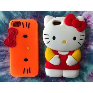 Hello Kitty iPhone 5 Silicone Case Bundle